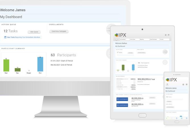 Advisor Web Portal displayed across multiple devices