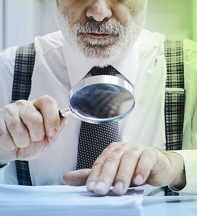 Man holding microscope